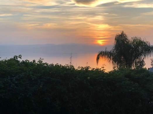 last Galilee sunset
